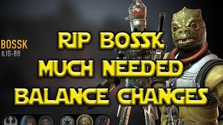 Star Wars: Force Arena - RIP Bossk - Leia Jyn Cassian BUFFS Balance Changes