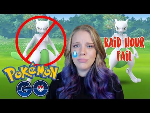 HUGE FAIL in Pokémon Go 🙃 Shiny Mewtwo Raid Hour