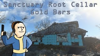 Fallout 4 - Sanctuary Root Cellar - Gold Bars