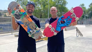 7.8 SCREAMING HAND PRODUCT CHALLENGE w/ MAURIO MCCOY & ANDREW CANNON!   Santa Cruz Skateboards