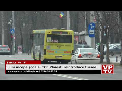 Luni începe școala, TCE Ploiești reintroduce trasee