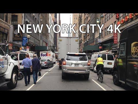 Drive 4K - Diamond District - New York City USA