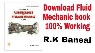 Fluid Mechanics Full Book Pdf