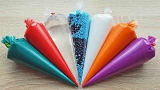 Making Slime Piping Bags - Satisfying Crunchy Slime #75
