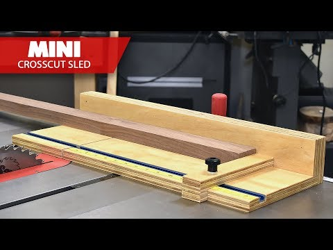 How To Make a Compact Table Saw Cross Cut Sled – Albert