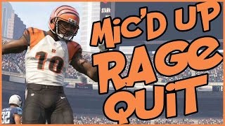 HILARIOUS MIC'D UP RAGE QUIT!! - Madden 16 Ultimate Team | MUT 16 PS4 Gameplay