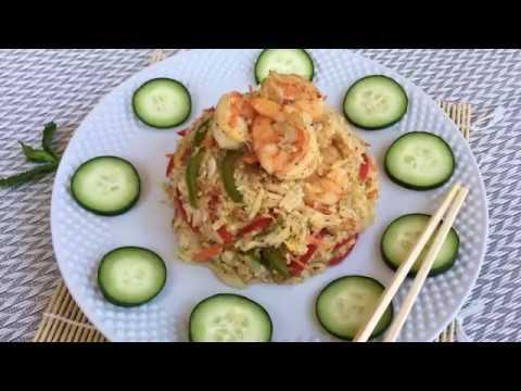 চিংড়ি ফ্রাইড রাইছ (Shrimp Fried Rice)    Bangladeshi Chinese Restaurant Style Fried Rice