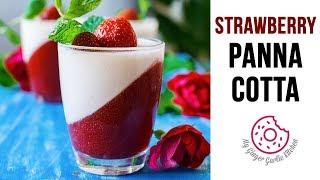 How To Make Strawberry Panna Cotta   Panna Cotta Recipe   Italian Dessert   Summer Desserts