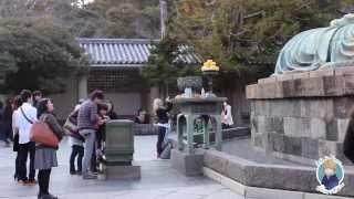 Япония. Нереально огромная статуя Будды в Камакура