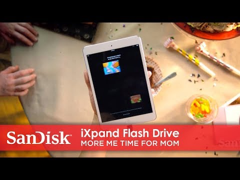 Video of iXpand Flash Drive used as entertainment storage for instant play