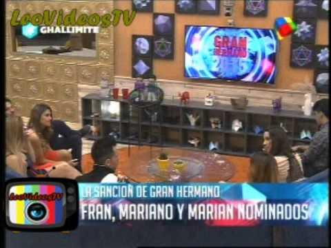 Marian Francisco Ferando sancionados Romina Nicolas y Belen son los 6 nominados GH 2015 #GH2015 #GranHermano