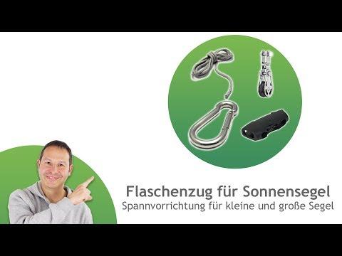 Seil- und Flaschenzüge - Spannvorrichtungen für Sonnensegel