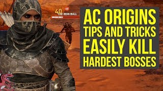 Assassin's Creed Origins Tips TO EASILY KILL HARDEST BOSSES (PHYLAKE) (AC Origins Tips and Tricks)