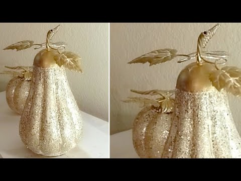 BLING FALL METAL PUMPKINS |  QUICK AND EASY DIY | KID FRIENDLY