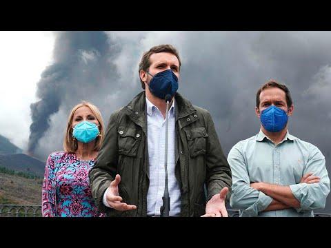 Pablo Casado visita las zonas afectadas por la eru...