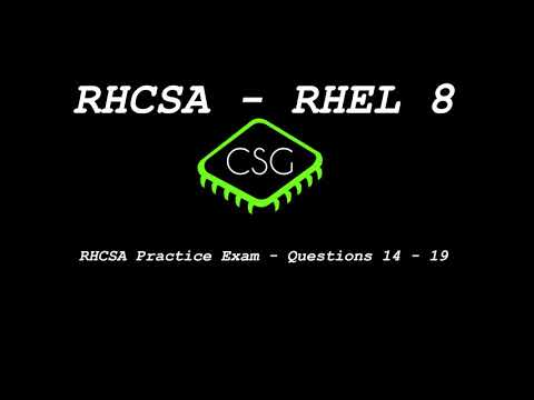 RHCSA RHEL 8 - Practice Exam - Questions 14 - 19 - YouTube