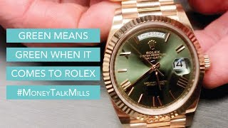 Green Means Green When It Comes to Rolex