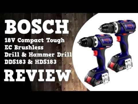 2016 Bosch 18V Compact Tough EC Brushless Drill & Hammer Drill Review DDS183 HDS183 GSB GSR 18 V-EC