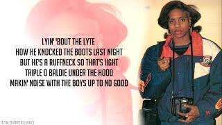 MC Lyte - Ruffneck (Lyrics - Video)