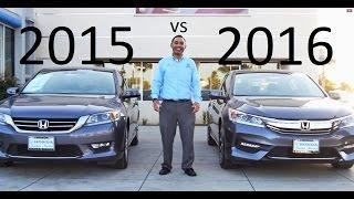 2016 Honda Accord VS 2015 Accord Comparison V6 equipment review