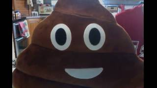GIANT! POOP! Emoji Plush Pillow