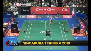 Singapore Open 2019, Anthony Ginting Melangkah Ke Final, Marcus-Kevin Gagal