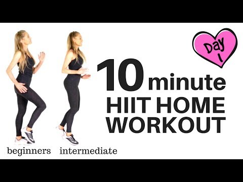 HOME HIIT WORKOUT - 10 MINUTES - FULL BODY WORKOUT HIIT CARDIO (suitable For Every Fitness Level)