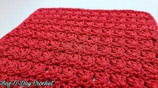 Easy Crochet Wash Cloth | Free Crochet Tutorial | Crochet Dish Cloth | Bagoday Crochet Tutorial