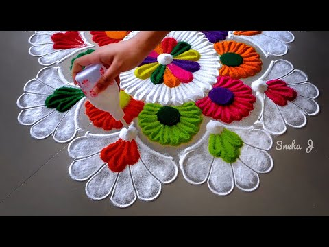 festival rangoli design by sneha j
