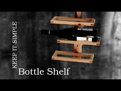 MACHS EINFACH: Flaschenregal | DIY bottle shelf