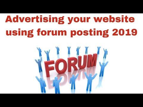 Advertising your website using forum posting 2019