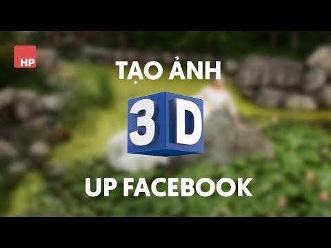 Tạo ảnh 3D để up facebook | #HPphotoshop