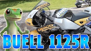 Test Riding a Buell 1125R.