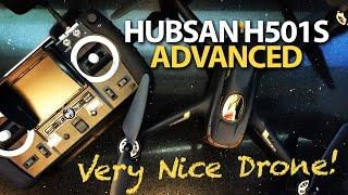 Hubsan H501S X4 Advanced - HIT A TREE & Follow Me - TESTED