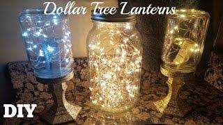 DIY DOLLAR TREE MASON JAR LANTERNS 2017 | Starry FAIRY STRING LIGHTS CRAFT