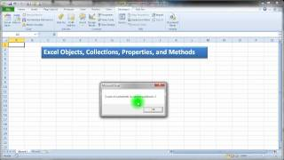 Excel VBA Objects, Collections Properties
