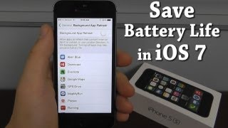 How to Save Battery Life in iOS 7