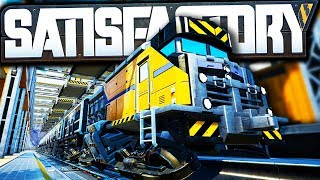 MEGA TRAINS and Train Station Setup!   Satisfactory Early Access Gameplay Ep 42