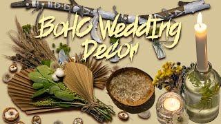 DIY BOHO WEDDING DECOR UNDER $5 | HOW TO MAKE A BRIDAL BOUQUET WITH A CRAFT SHOPPING BAG