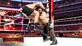 Seth Rollins Goes Low Against Brock Lesnar In Brutal War: WrestleMania 35 (WWE Network Exclusive)