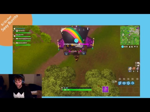 Top 4 in Solo - BJ Gruber - Fortnite Battle Royale - Sexy Burrito - Friday 3/16/18