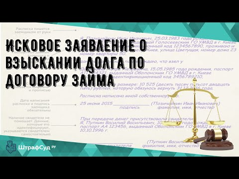 Исковое заявление о взыскании долга по договору займа