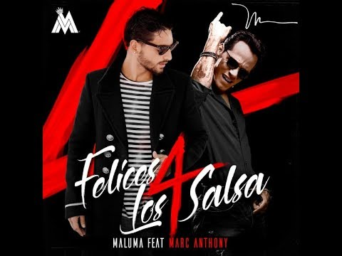 Maluma Feat. Marc Anthony - Felices los 4 (New Salsa Nueva Hit 2017 Official Audio)