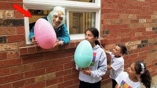 Greedy Granny Kids Pretend Play In Real Life Surprise Eggs with Toys