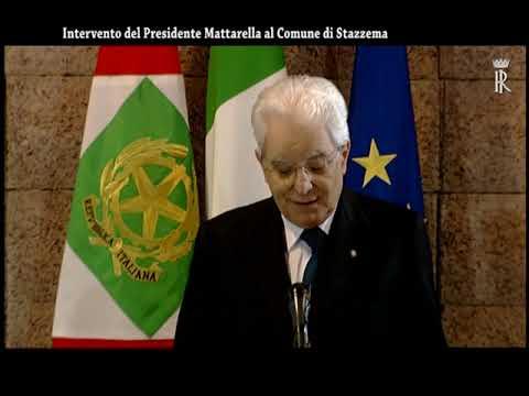 IL PRESIDENTE SERGIO MATTARELLA ALLA CERIMONIA DELLA MEDAGLIA D'ORO AL VALOR MILITARE AL COMUNE DI STAZZEMA