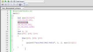Download Youtube: C Programming Tutorial - 54: Two Dimensional Arrays