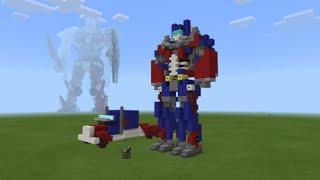 How To Build Minecraft Optimus Prime Robot Mode Tutorial