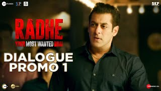 Radhe: Dialogue Promo 1 | Salman Khan | Randeep Hooda | Prabhu Deva | 13th May - PRO