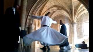 preview picture of video '► Whirling Dervish in 12th century Byzantine church in occupied Nicosia, Cyprus'