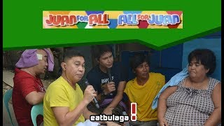 SUBSCRIBE to our channel now to get exclusive videos and full episodes of Eat Bulaga!  Be with your favorite Dabarkads 24/7!   YouTube Channel:  http://bit.ly/1Z4PNPJ  FOLLOW US!  EB on Facebook: https://www.facebook.com/EBdabarkads EB on Twitter: https://twitter.com/EatBulaga EB on Instagram: https://www.instagram.com/eatbulaga1979/  ABOUT EAT BULAGA Eat Bulaga! (or EB) is the longest noon-time variety show in the Philippines produced by Television And Production Exponents Inc. (TAPE) and currently aired by GMA Network. The show broadcasts from The New TAPE Studios (Eastside Studio) at the GMA Broadway Centrum in New Manila, Quezon City. Eat Bulaga! is aired Weekdays at 12:00pm to 2:35pm and Saturdays at 11:30am to 2:45pm (PHT).  Studio Booking & Reservations: http://bit.ly/2mg4jZf